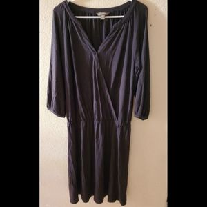 Tommy Bahama Black Wrap Midi Jersey Dress
